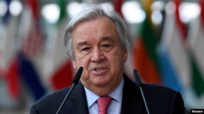 Sekjen PBB Antonio Guterres. (REUTERS)