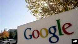 Lambang Google di depan kantor pusatnya di Mountain View, California. (Foto: Dok)