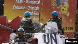Des Casques bleus en patrouille à Goma, RDC, 6 décembre 2006.