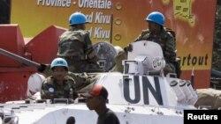 Des Casques bleus à Goma, le 6 décembre 2008.