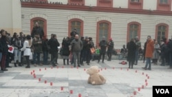 """Protest solidarnosti u Beogradu """"Srce za Davida - Beograd uz Banja Luku"""""""