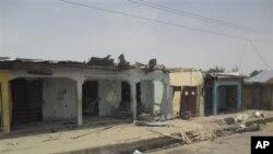 Sebuah desa Damaturu, di Yobe, Nigeria yang diserang militan Boko Haram bulan Juni lalu (foto: dok).
