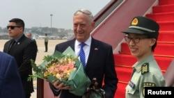 马蒂斯2018年6月26日抵达北京(路透社)