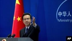 中国外交部发言人洪磊 (资料照片)