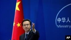 北京外交部發言人洪磊(資料圖片)