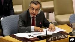 Wakil Afghanistan untuk PBB, Zahir Tanin (Foto: dok/AP Photo/Richard Drew).