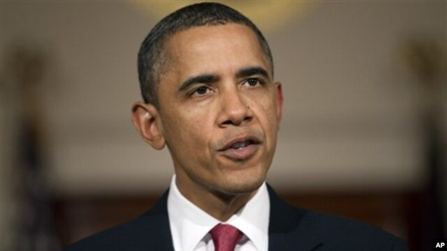 President Barack Obama speaks about the situation in Egypt Feb. 1, 2011.