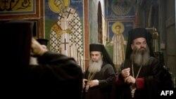 Відправа в палестинській православній церкві