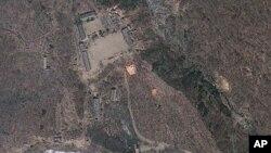 Ảnh vệ tinh địa điểm hạt nhân Punggye-ri của Bắc Triều Tiên.