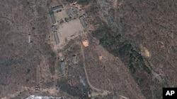 북한 함경북도 길주군 풍계리 핵실험장의 지난해 4월 위성사진.