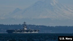 尼米兹号航母USS Nimitz在美国西海岸执行任务(美国海军2020年2月22日照片)