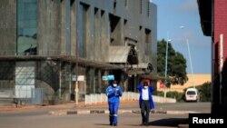 Une rue de Harare en confinement au Zimbabwe le 30 mars 2020.