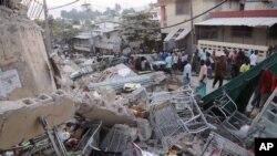 Mabaki ya nyumba zilizoporomoka Haiti baada ya tetemeko
