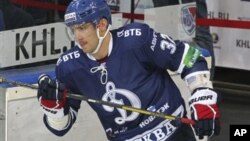 Александр Овечкин — игрок хоккейного клуба «Динамо» (Москва). 20 сентября 2012 г.