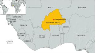 Peta Burkina Faso