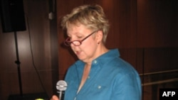 Мишель Берди на встрече в Бруклинской публичной библиотеке