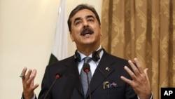 Pakistani Prime Minister Yousuf Raza Gilani