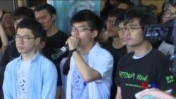 香港三位學運領袖被改判監禁