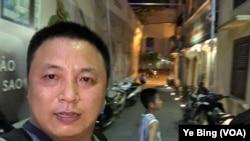中国维权律师陈建刚在逃亡途中。(陈建刚提供图片)