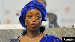 Nigeria's Minister of Petroleum Resources Diezani Allison-Madueke speaks during an Oil and Gas conference in Nigeria's capital Abuja February 21 2012.