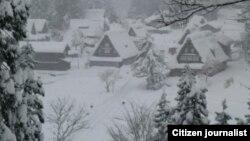 ແຂວງ Gifu ປົກຄຸມໄປດ້ວຍ ຫິມະ ຂອງລະດູໜາວ