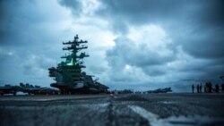 里根號航母戰鬥群進入南海履行例行任務