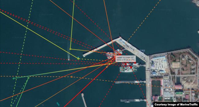 선박의 실시간 위치를 보여주는 마린트래픽(Marine Traffic) 확인 결과, 지난해 9월 5일 일반 선박은 출입이 불가능 인천해양경찰서 전용부두에서 배 한 척의 AIS 신호가 포착됐다.
