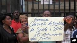 Manifestação de professores em Malanje