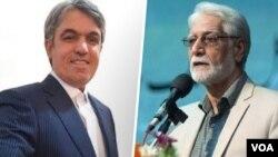 غلامرضا نوریعلا (راست) و امیر بابایی روزنامهنگار اهل کرمانشاه