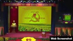 Quang cảnh lễ kỷ niệm 90 năm thành lập ĐCS. Photo VTV
