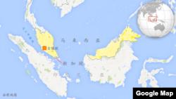 马来西亚、印度尼西亚、新加坡,包括马六甲海峡 (谷歌地图)