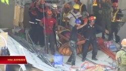 Philippines giải cứu nạn nhân sau vụ động đất lớn