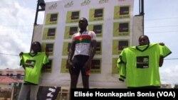 Le Burkinabè Bachirou Monean a remporté la 2e étape du tour du Bénin, 11 mai 2017. (VOA/Elisée Hounkapatin Sonia)