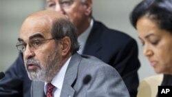 지난 9일 로마에서 기자회견 중인 호세 그라지아노 다 실바 유엔 식량농업기구 사무총장.