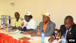 Líderes dos partidos da oposição no Kwanza Sul