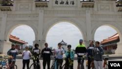 台灣人權團體代表聚會要求北京釋放人權人士(美國之音楊明攝)