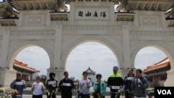 台湾人权团体代表聚会要求北京释放人权人士(美国之音杨明摄)