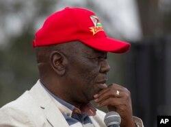 Le leader de l'opposition zimbabwéenne et candidat à la présidentielle de 2018, Morgan Tsvangirai, lors d'un rassemblement de son parti à Harare, Zimbabwe, 5 août 2017.