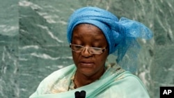 FILE - United Nations special representative for sexual violence in conflict, Zainab Hawa Bangura.
