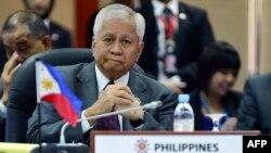 Ngoại trưởng Philippines Albert del Rosario tại Hội nghị Bộ trưởng Ngoại giao ASEAN lần thứ 46 tại Bandar Seri Begawan, Brunei.