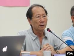 台湾[促进和平基金会] 执行长简锡堦(美国之音张永泰拍摄)