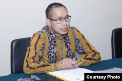 Direktur Perlindungan Warga Negara Indonesia dan Badan Hukum Indonesia Kementerian Luar negeri Judha Nugraha dalam jumpa pers secara virtual, Rabu, 3 Juni 2020. (Foto courtesy: Kemenlu)