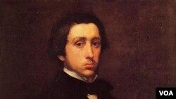 "Lukisan ""Potret Diri"" Edgar Degas, pelukis ternama Perancis abad ke-19 (19 Juli 1834 – 27 September 1917)."