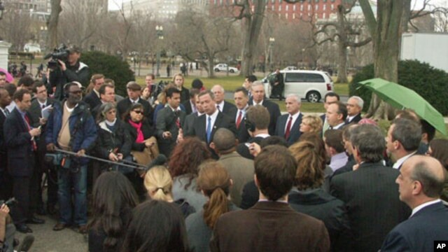 Democratic governors after White House meeting with President Barack Obama, February 25, 2011
