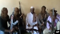 A screen shot of the latest video allegedly circulated by the Islamist group Boko Haram.