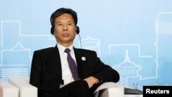中國財政部長劉坤2018年5月28日在上海出席新開發銀行(又稱金磚國家開發銀行)第三屆年會。