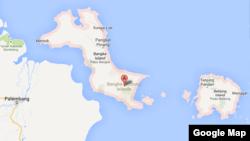 Peta Provinsi Bangka Belitung.