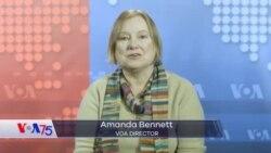 Amanda Bennettin VOA 75 yubiley mesajı