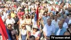 Protest u severnom delu Kosovske Mitrovice