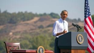 Presiden Barack Obama di Frank G. Bonelli Regional Park, San Dimas, California (Foto: dok).